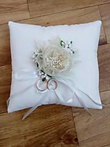 Prstene - Svadobný vankúšik pod obrúčky 7 - 13416039_