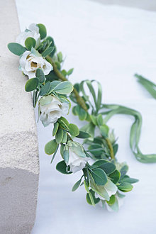 Ozdoby do vlasov - Venček do vlasov - Biele ruže - 13415974_