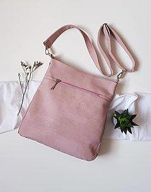 Kabelky - Midi cork pink - 13415070_