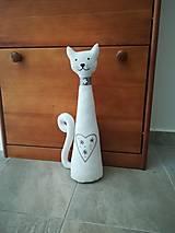 Dekorácie - Dekoračná šitá mačka  - 13415463_
