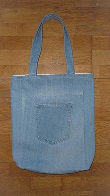 Nákupné tašky - Riflová taška - 13419077_