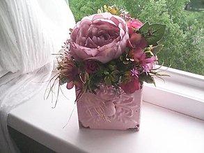 Dekorácie - Kvetinová dekorácia ...vintage... - 13416979_