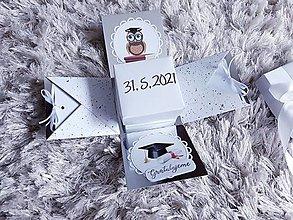 Krabičky - Exploding box k promóciám (Univerzálna) - 13417570_