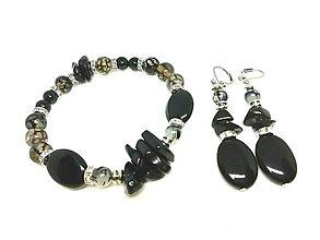 Sady šperkov - Súprava šperkov čierna - 13419142_