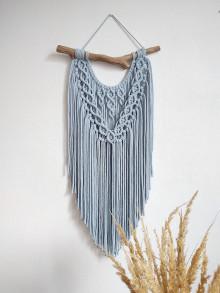 Dekorácie - Makramé závesná dekorácia DUNE (Nebesky modrá) - 13418470_