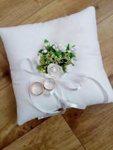 Prstene - Svadobný vankúšik pod obrúčky 9 - 13417422_