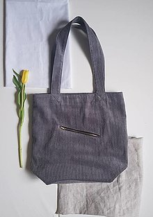 Nákupné tašky - Taška - Cord grey - 13417574_