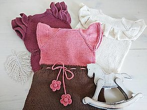 Detské oblečenie - Romper s kvetinovým zaväzovaním + topánočky grátis - 13417950_