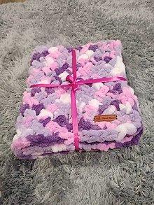 Úžitkový textil - Háčkovaná puffy deka - 13417779_