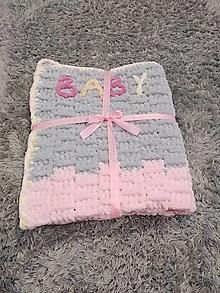 Úžitkový textil - Háčkovaná deka - 13418883_