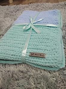 Úžitkový textil - Háčkovaná deka - 13418919_