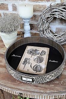 Nádoby - Botanický vintage podnos s nožičkami - 13417082_