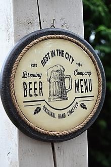 Obrázky - Okrúhle pivárske obrázky s keramickým efektom (beer menu) - 13417187_