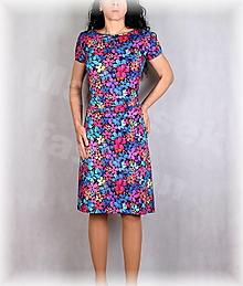 Šaty - Šaty s řasením v pase vz.659 - 13420286_