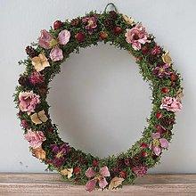 "Dekorácie - Kvetinový veniec ""Cilli"" - 13420953_"