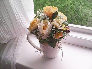 Dekorácie - Dekorácia ...čajové ružičky... - 13421877_