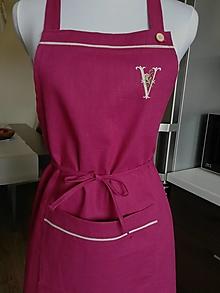 Iné oblečenie - Personalizovaná ľanová zástera - 13420380_