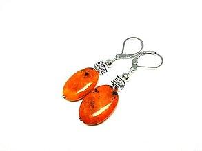 Náušnice - Náušnice oranžový azurit - 13420765_