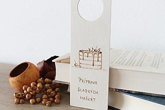 """Tabuľky - Drevená tabuľka na dvere """"Maškrty"""" - 13423110_"""
