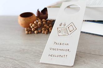 """Tabuľky - Drevená tabuľka na dvere """"Home office"""" - 13423148_"""