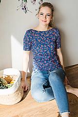 Tričká - Elegantné tričko na dojčenie dark meadow - 13420851_