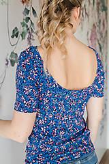 Tričká - Elegantné tričko na dojčenie dark meadow - 13420852_