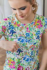 Topy, tričká, tielka - Tričko na dojčenie floral garden - 13420859_