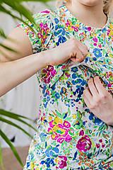 Topy, tričká, tielka - Tričko na dojčenie floral garden - 13420861_
