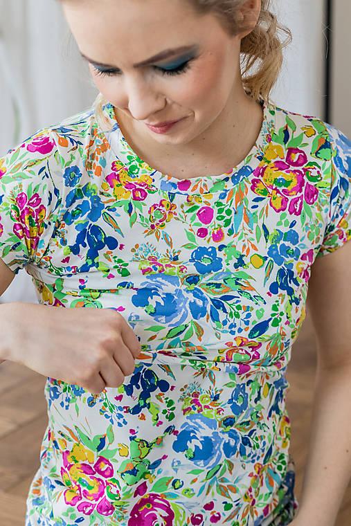 Tričko na dojčenie floral garden