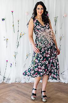 Šaty - Zavinovacie šaty na dojčenie dark roses - 13420842_