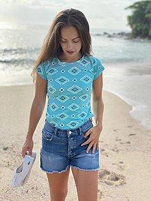 Tričká - Tričko na dojčenie aqua - 13420882_