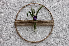 Dekorácie - Mini váza pre minimalistu MAKRAMÉ dekorácia - 13419888_
