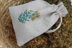 Sypaný čaj bio ľubovník bodkovaný 20 g v ľanovom ručne maľovanom vrecku