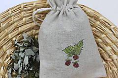 Potraviny - Ostružina malinová 20g sypaný čaj v ľanovom vrecku - 13422461_