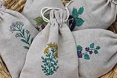 Ručne maľované ľanové vrecká ako od babičky pre Vaše bylinky
