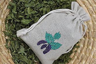 Potraviny - Sypaný bio čaj Morušové listy v ľanovom vrecku - 13422059_