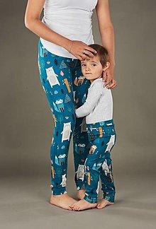 Detské oblečenie - leginy mama a syn/dcéra - 13419606_