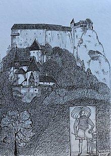 Kresby - Oravský hrad - 13423072_