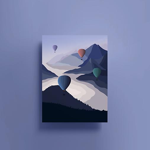 Grafika - Pohled na hory - 13423152_