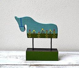 Socha - Drevený koník - maľovaný - 13421648_