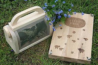 Hračky - Lúčny bádateľský set: hmyzia krabička, drevený lis, poster v jpg. - 13422001_