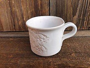 Nádoby - Šálka Sedmikráska biela 200ml - 13423796_