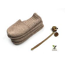 Obuv - Domáce papučky (100% alpaka) - 13425587_