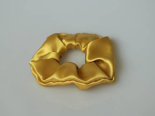 Scrunchies gumička saténová zlatá