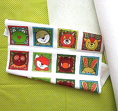 Textil - Kreatívna sada UŠI SI SÁM - Textilné pexeso  (Zvieratká z lesa) - 13423731_