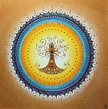 Obrazy - STROM ŽIVOTA (blue) 30 x 30 - 13424978_
