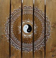 Obrazy - SPIRITUALITA (drevo-silver) 40 x 40 - 13425005_