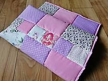 Detská patchwork hracia podložka - Ružová víla - 100 x 100 cm