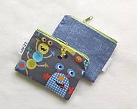 Detské tašky - Detská peňaženka chlapčenská č.2 (Príšerky + látka) - 13426082_