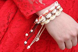 Náramky - Prírodný náramok z kauri mušlí na ruku aj na nohu - 13424425_
